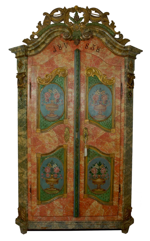 Armadi Tirolesi Dipinti armadio bavarese dipinto - | antichità sacco giovannino