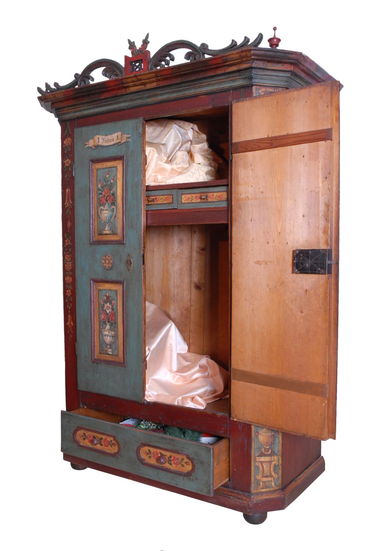 Armadi Tirolesi Dipinti armadio dipinto - | antichità sacco giovannino - milano